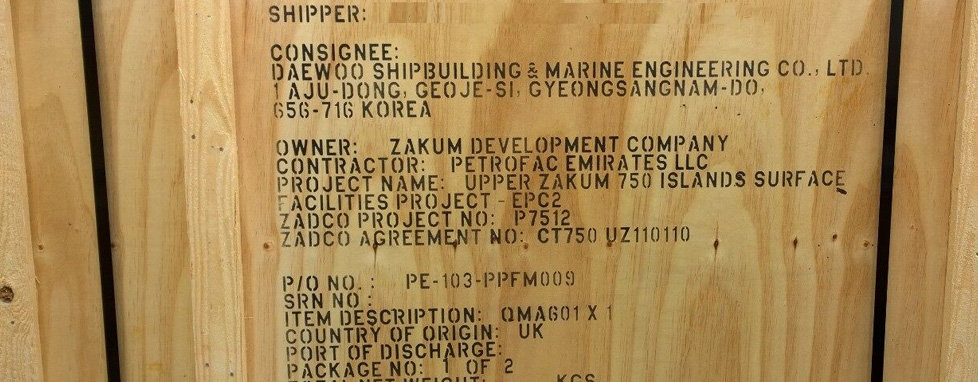 Stenciling Amp Marking Ced Packaging Export Packing